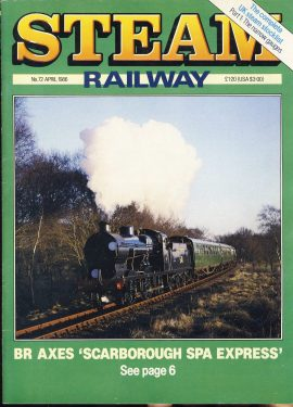 Steam Railway vintage magazine in good read condition. Light wear on cover. Name written on back cover. R225
