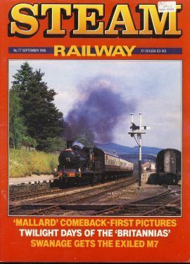 Steam Railway vintage magazine in good read condition. Wear on cover. Name written on back cover. R215