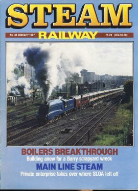 Steam Railway vintage magazine in good read condition. Wear on cover. Name written on back cover. R221