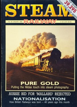 Steam Railway vintage magazine in good read condition. Wear on cover. Name written on cover. R236