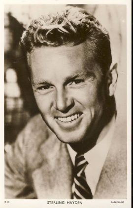 Sterling Hayden Paramount Picturegoer Vintage Postcard . An original postcard in very good condition for its age. Please see large photo and description for details. Ref164
