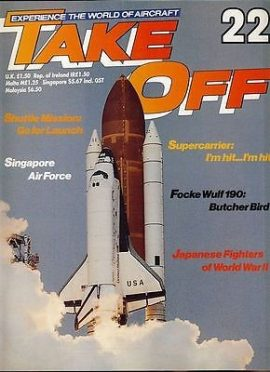 TAKE OFF Aircraft Magazine 22 Shuttle Challenger WWII Japan