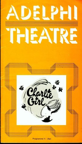 ADELPHI Theatre Programme CHARLIE GIRL circa 1960s refb101162 Pre-owned Programme in Good Condition. Measures approx 13cm x 23cm