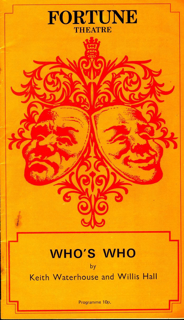 1971 FORTUNE Theatre Programme WHO'S WHO  refb101164 Pre-owned Programme in Good Condition. Staples rusting. Measures approx 13cm x 23cm