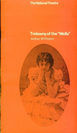 """Trelawny of the """"Wells"""" National Theatre Programme undated refb101168 Pre-owned Programme in Good Condition. Measures approx 13cm x 23cm"""