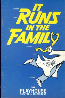 It Runs in the Family 1992 The Playhouse Theatre Programme LONDON refb101098 Pre-owned Programme in Good Condition. Measures approx 15cm x 21cm