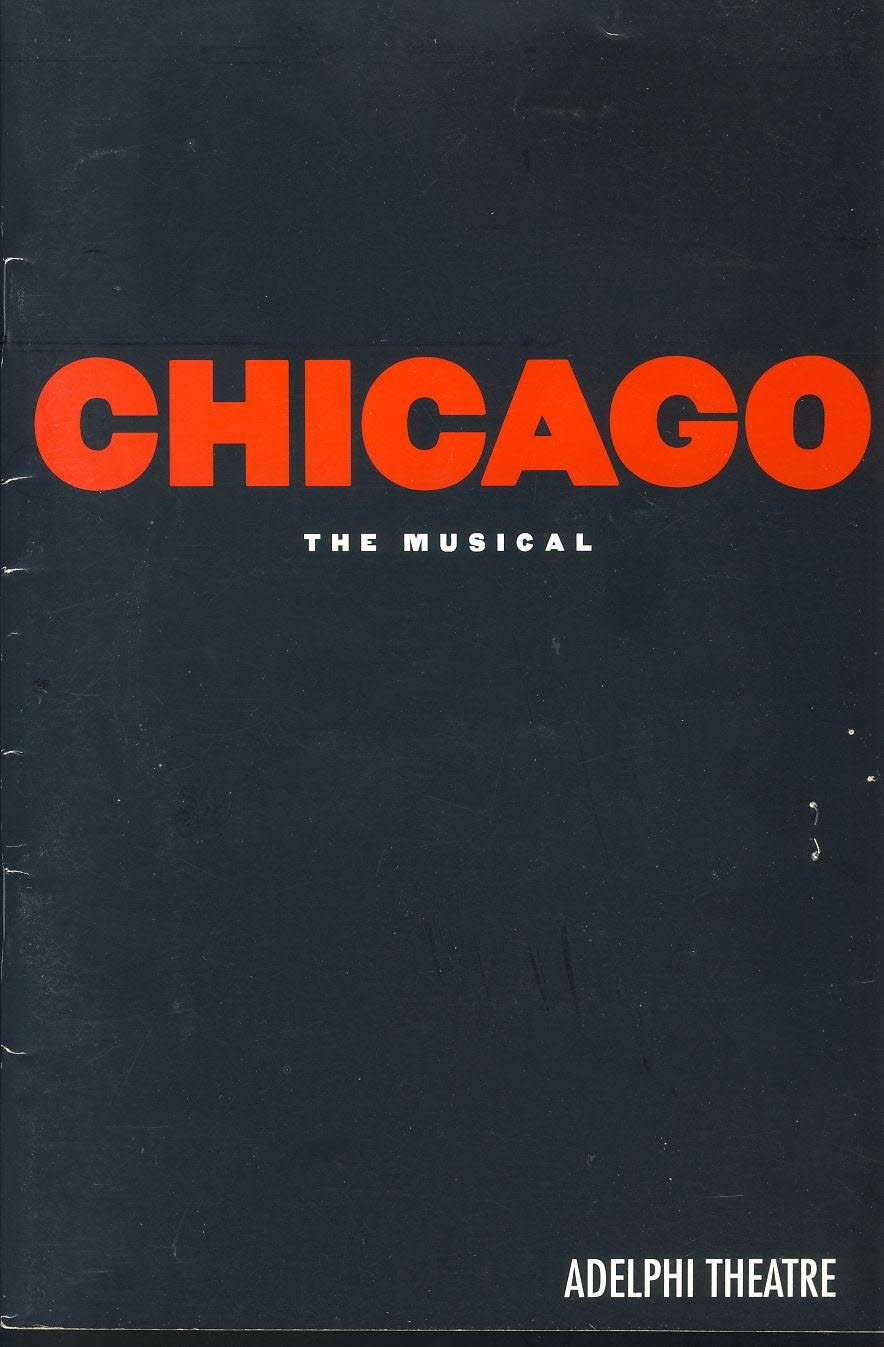 1998 CHICAGO Adelphi Theatre Programme with ticket stub refb101108 Pre-owned Programme in Good Condition. Measures approx 15cm x 22.5cm