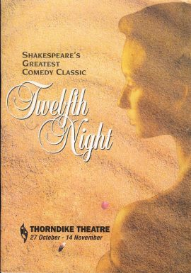 1992 Thorndike Theatre Programme TWELFTH NIGHT refb101119 Pre-owned Programme in Good Condition. Measures approx 18cm x 25cm
