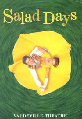 Salad Days 1996 Vaudeville Theatre Programme Elizabeth Counsell