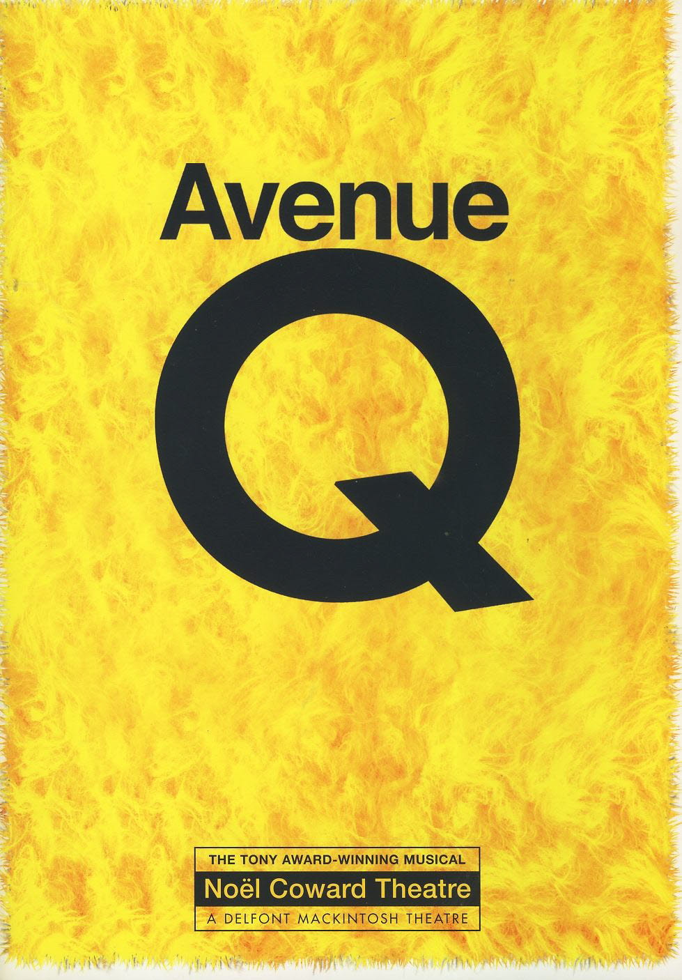 Avenue Q Noel Coward Theatre Programme 2006 refb1594 Used Programme in Very Good Condition.