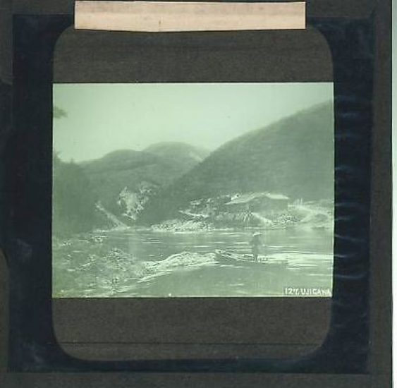 This is a vintage glass lantern slide. The image may be faded or subject to crackling. Please look at the image and see description. Thanks