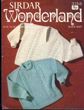 Vintage knitting pattern as shown in photograph. In good condition with creases. Ref050