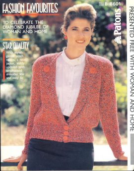 Vintage knitting pattern as shown in photograph - 1986. In good condition. ref047