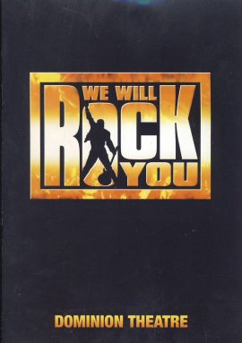 Ben Elton's We Will Rock You BROCHURE Dominion Theatre. Good used condition with some creases on back cover.  This is a vintage Theatre programme. Please read full description and see large photo. C459