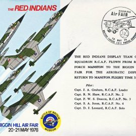 1978 RED INDIANS Biggin Hill Air Fair RAF flown stamp cover refF113 Unsealed with insert. Please see full description and photo for condition report.