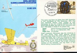 1974 Gliding & Soaring 25th Anniv RAF flown stamp cover BFPO 1481 refF114 Unsealed with insert. Please see full description and photo for condition report.