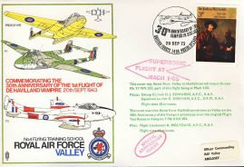 1973 Supersonic Mach 1.05 Anniversary RAF flown stamp cover BFPO 1404 refF115 Unsealed no insert. Please see full description and photo for condition report.