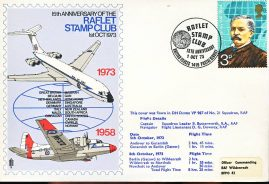 1973 RAFLET STAMP CLUB DH Devon VP967 RAF flown stamp cover BFPO 1419 refF123 Unsealed with insert. Please see full description and photo for condition report.