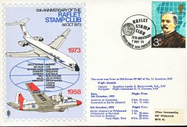 1973 DH Devon VP967 no.21 Squadron RAF flown stamp cover Butterworth BFPO 1419 Raflet Stamp Club refF124 Unsealed with insert. Please see full description and photo for condition report.