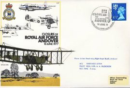 1977 RAF Andover last flight flown stamp cover BFPO 1568 refF157 Unsealed with insert.
