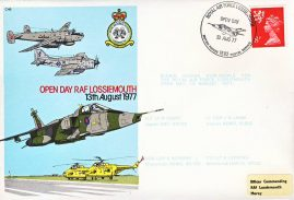 1977 Open Day RAF Lossiemouth flown stamp cover BFPO 1582 refF1158 Unsealed with insert.