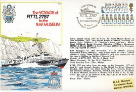 Rescue Target Towing Launch RTTL 2757 RAF Mountbatten Last Voyage 1977 stamp cover BFPO 1542 refF163 Unsealed with insert.