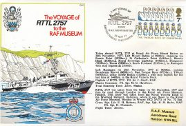 1977 Last Voyage of RTTL RAF Mount Batten 2757 carried aboard stamp cover 1542 BFPO refF164 Unsealed with insert.