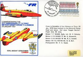 1978 Meteor Target Drone RAF flown stamp cover Llanbedr to Aberporth Range Head. Call signs Nugget Section BFPO refF165 Unsealed with insert.