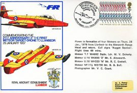 1978 21st Anniversary of First Meteor Target Drone RAF flown stamp cover BFPO 1599 LLANBEDR refF166 Unsealed with insert.