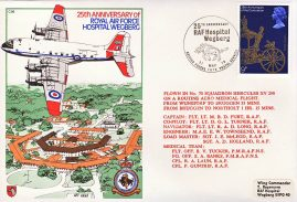 RAF Hospital Wegberg 1978 flown stamp cover BFPO 1612 No.70 Squadron HERCULES refF169 Unsealed with insert.