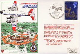 1978 25th Anniversary RAF Hospital Wegberg flown stamp cover BFPO 1612 refF170 Unsealed with insert.