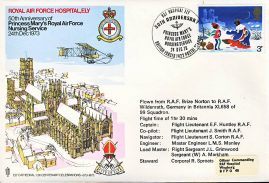 1973 RAF  Hospital Ely Princess Mary's Nursing Service flown stamp cover BFPO 1422 refF185 Unsealed no insert.