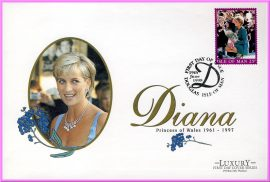 Diana Princess of Wales 1961 - 1997 Luxury First Day Cover collectors series. Ideal Gift. Very good condition.