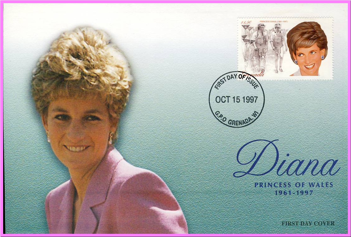 Ideal Gift. Diana Princess of Wales 1961 - 1997 Commemorative Cover collectors series. Very good condition.