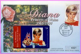 October 15th 1997 First Day of Issue. Ideal Gift. Diana Princess of Wales 1961 - 1997 Commemorative Phonecard Cover. Mercury numbered collectors series. Very good condition.