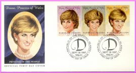 Ideal Gift. Princess of the People. Information printed on reverse side. Diana Princess of Wales 1961 - 1997 Commemorative Cover collectors series. Very good condition.