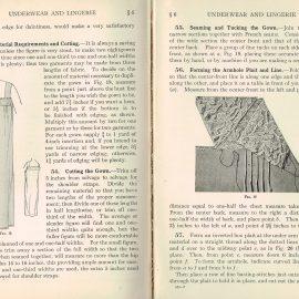1930 Underwear & Lingerie Woman's Institute Domestic Arts & Sciences RARE sewing dressmakers tailors collectors book. Scranton PA Textbook Press.