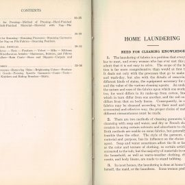 1925 Laudering & Dry Cleaning Woman's Institute Domestic Arts & Sciences RARE sewing dressmakers tailors collectors book. Scranton PA Textbook Press.