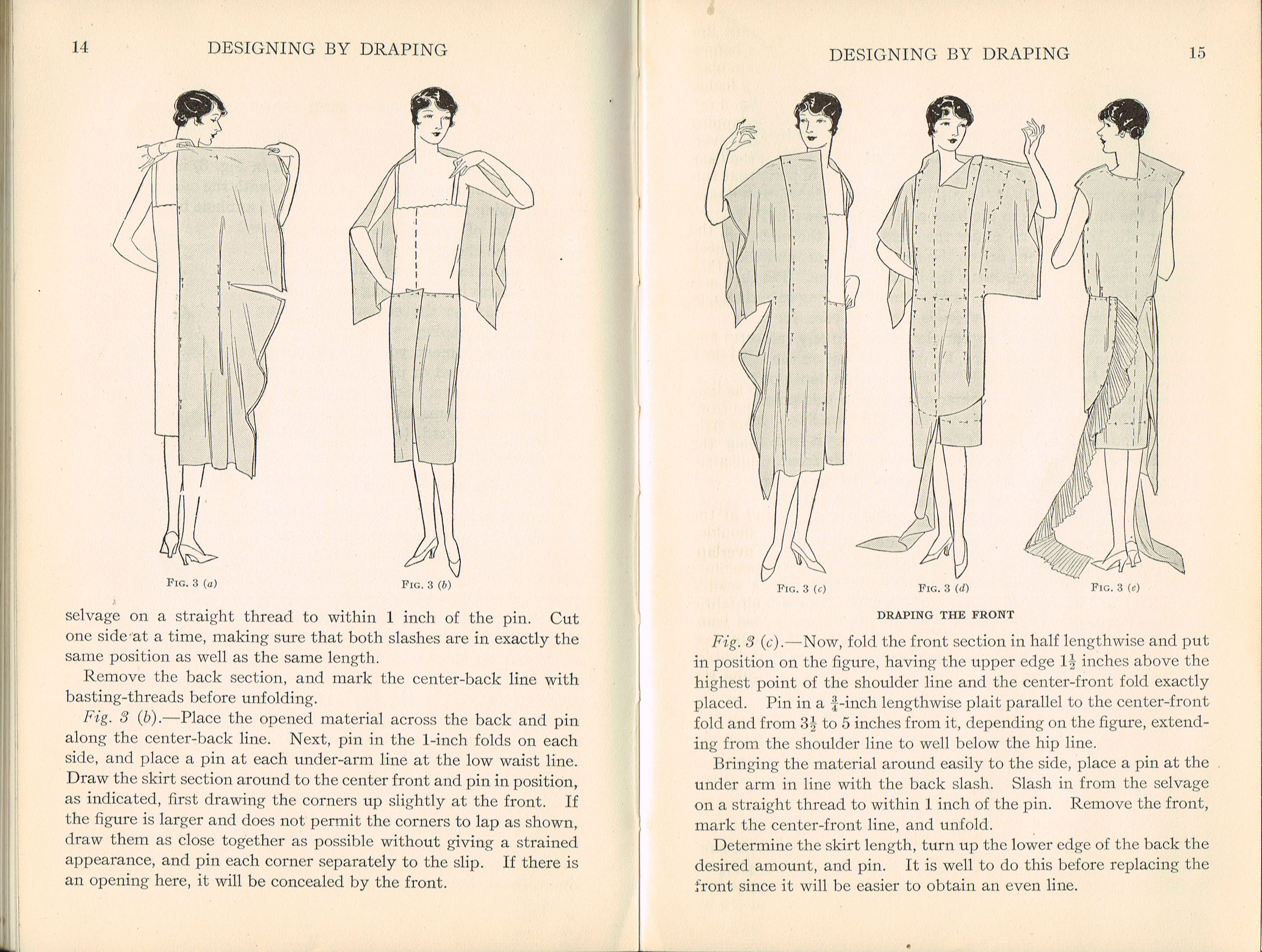 1926-1928 Pattern Designing Draping Woman's Institute Domestic Arts & Sciences RARE sewing dressmakers tailors collectors book. Scranton PA Textbook Press.