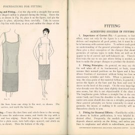 1928 Cutting & Fitting Woman's Institute Domestic Arts & Sciences RARE sewing dressmakers tailors collectors book. Scranton PA Textbook Press.