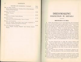 1927-1928 Dressmaking Trimming Finishing Woman's Institute Domestic Arts & Sciences RARE sewing dressmakers tailors collectors book. Scranton PA Textbook Press.
