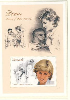 Princess Diana Grenada $5 MS stamp sheet refDA133 Diana Princess of Wales 1961-1997 Westminster collectors series. Unused. Ideal Gift. Very good condition