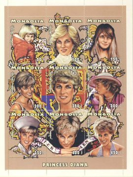 Princess Diana of Wales 1961-97  9v Sheetlet stamp sheet refDA Diana Princess of Wales 1961-1997 Westminster collectors series. Unused. Ideal Gift. Very good condition
