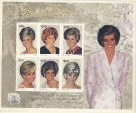 Princess Diana Guyana 9x$80 MS stamp sheet 1961-1997 refDA160 Diana Princess of Wales 1961-1997 Westminster collectors series. Unused. Ideal Gift. Very good condition