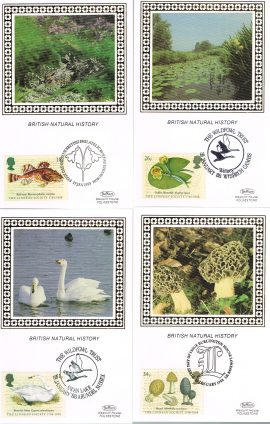 Ltd Edition 2500 - Set of 4 silk stamp postcards. Ideal Gift. Very good condition