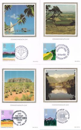 Limited to 5500 Set of 4 Commonwealth Day postcards. Ideal Gift. Very good condition