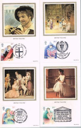 Set of 4 postcards with various postmarks. Ideal Gift. Very good condition