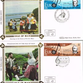 2 silk stamp covers as shown in photo. Unsealed with insert card. Ideal Gift. Very good condition