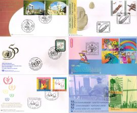 6 Various United Nations first day covers. See photo for bundle details.
