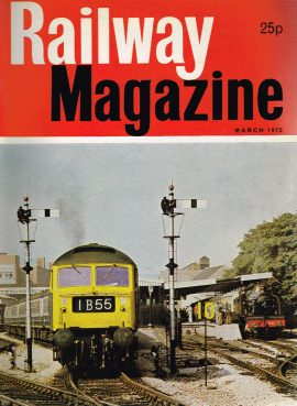 Vintage 1975 Railway Magazine in good read condition - cutting taken from back page and some pens marks in classified pages. RefA1